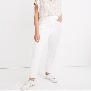 Madewell high-rise slim boy jean in tile white
